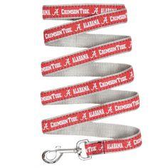 newest e9842 79cb3 Alabama Crimson Tide Dog Leash - Ribbon