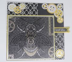 Created by  Michelle Millisom using #SpectrumNoir Colorista Dark & Metallic pencils! #crafterscompanion