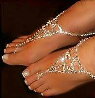 Loving this foot jewelry i been seein,  I SURE WOULD WEAR THESE