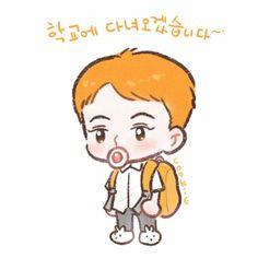 Exo Kokobop, Kpop Exo, Baekhyun, Exo Cartoon, Exo Stickers, Exo Anime, 5 Years With Exo, Exo Fan Art, Exo Lockscreen