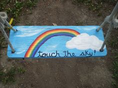 touch the sky!  Painted swing