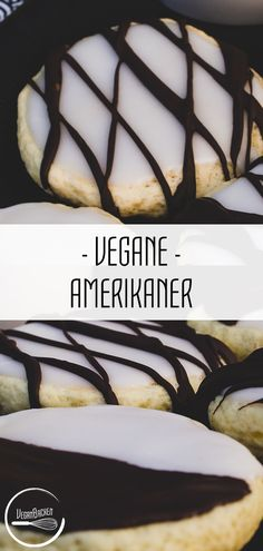 Vegane Amerikaner: Süßes EsserlebnisThe Americans are super airy! This basically benefits the taste, but it has an even more effective effect if you cover the vegan Americans with a thick, heavy layer of chocolate and icing icing. Raw Food Recipes, Cookie Recipes, Cookie Vegan, Dessert Sans Gluten, Sugar Icing, Vegan Nutrition, Vegan Sweets, Raw Vegan, Bakery