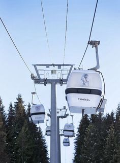 Chanel Ski Lifts with Karl Lagerfeld Sketches at Courchevel in the Alps