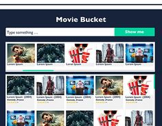 """Check out new work on my @Behance portfolio: """"Movie Bucket Landing Page."""" http://be.net/gallery/55410403/Movie-Bucket-Landing-Page"""