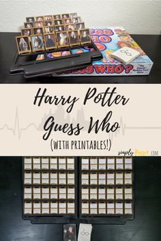 Harry Potter Guess Who game Pinterest graphic