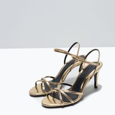 HIGH-HEEL SHINY SANDALS-Shoes-Woman-SHOES & BAGS | ZARA United States