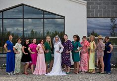 BAD ASS Bachelorette Paintball Party!!! I'm DEFINITELY doing this!!!! After finding the ugliest, tackiest, cheap wedding gown of your own, let your best girls pick out the most hideous bridesmaid dresses that they can find, and then let the paintballs fly. FUN!!! After the fight, dress up and go out for dinner and drinks!