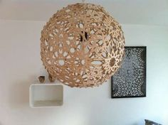 Living Room - DIY cheap moorish lamp.  Can make out of wood/plastic/cardboard/whatever.  Brads connect pieces.