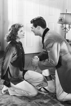 Cary Grant and Katharine Hepburn in Bringing Up Baby 1937.