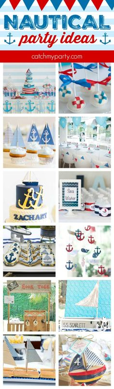 12 Must-See Nautical Party Ideas | CatchMyparty.com