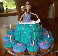 Stand Up Barbie Cake   Recipe and Tutorial on making & using buttercream icing)