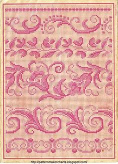 Free Easy Cross, Pattern Maker, PCStitch Charts + Free Historic Old Pattern Books: Loss Pages Cross Stitch Borders, Cross Stitch Samplers, Cross Stitch Flowers, Modern Cross Stitch, Cross Stitch Designs, Cross Stitching, Cross Stitch Embroidery, Embroidery Patterns, Cross Stitch Patterns
