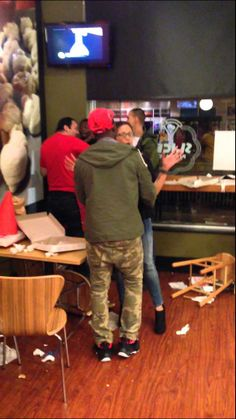 Savage Fight in College Park maryland pizza store