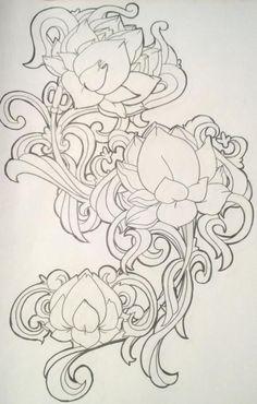 Lotus Filigree Tattoo by LolaLotus on DeviantArt Mural Painting, Sketches, Art Tattoo, Drawings, Mural Art, Fabric Painting, Kerala Mural Painting, Filigree Tattoo, Art
