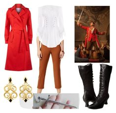 """""""No One Dresses Like Gaston"""" by nania840 on Polyvore featuring Disney, Alfani, Ellie Shoes, Maje, BeautyandtheBeast and contestentry"""