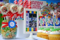 Candyland Birthday Party Ideas  - banners and decorations