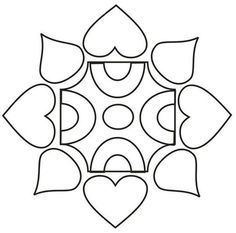 Printable Design Patterns Rangoli design coloring printable Page