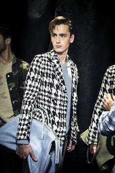 Ermanno Scervino Men's SS 2016 fashion show backstage #ErmannoScervino #ScervinoLive