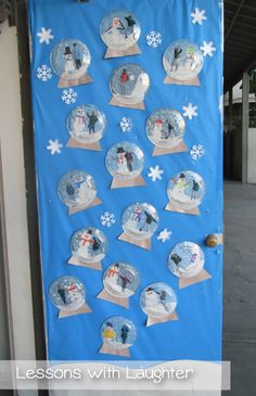 Maybe a few older grade level buddies can help with the cutting of the photo but these are super adorable! A perfect January project http://ift.tt/1Ii7ckt