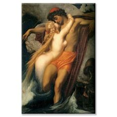 Buyenlarge The Fisherman and the Siren by Lord Frederick Leighton Painting Print on Wrapped Canvas Size: 2