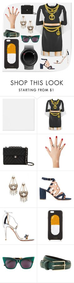 """Be your own style"" by denisee-denisee ❤ liked on Polyvore featuring Moschino, Chanel, Maison Margiela, Cara, Jean-Michel Cazabat, Aquazzura, Chaos, Pared, Paul & Joe and ZIIIRO"