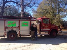 My sweet boyfriends promposal! #FireTruck #Station8 #Firefighter