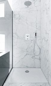 8 Stunning Cool Ideas: Walk In Shower Remodel small shower remodeling master baths.Shower Remodel Before And After shower remodeling on a budget wainscoting.Shower Remodel With Half Wall. Wet Rooms, Wet Room Flooring, Modern Flooring, Laminate Flooring, Tile Walk In Shower, Shower Floor, Shower Pan, Dream Shower, Toilette Design