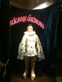 """Zeki Müren"" polyester multimedia sculpture."