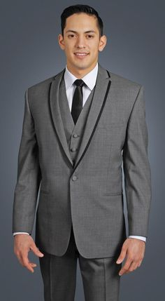 >> Click to Buy << Classic Style One Button Grey Groom Tuxedos Groomsmen Men's Wedding Prom Suits Custom Made (Jacket+Pants+Vest+Tie) K:330 #Affiliate