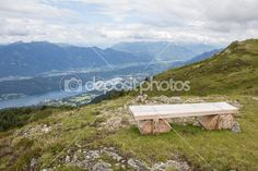 #Bench on #Alp #Millstatt #View Into The #Valley And #Lake Millstatt @depositphotos #depositphotos #ktr14 #nature #mountains #hiking #summer #outdoor #photo #new #stock #hires #download #Portfolio #Austria #carinthia