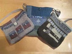 Purses made from felted sweaters