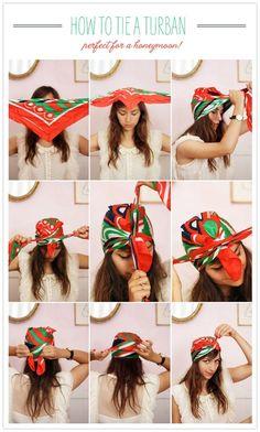 bandana binden anleitung kopftuch turban - All For Colors Hair Scarf Hairstyles, Summer Hairstyles, Cool Hairstyles, Creative Hairstyles, Bandana Hairstyles For Long Hair, Rainy Day Hairstyles, Hairstyles 2018, Popular Hairstyles, Everyday Hairstyles