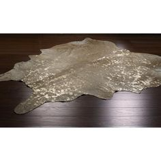 Metallic  Cowhide Rug: 3 Colors Easy DIY with cowhide from Southeastern Salvage