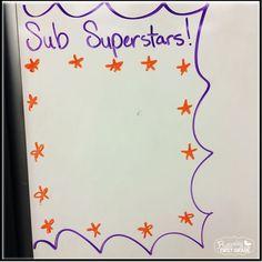 Classroom management for substitute teachers Substitute Teacher Tips, Subsitute Teacher, Substitute Binder, Teaching Plan, Teaching Activities, Student Teaching, Teaching Tips, Life Skills Classroom, New Classroom