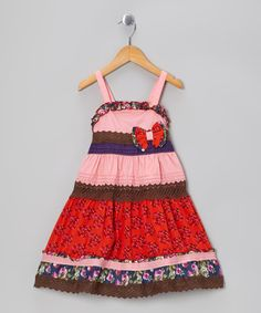 Take a look at this Pink Floral Ruffle Bow Dress - Toddler & Girls by the Silly Sissy on #zulily today!