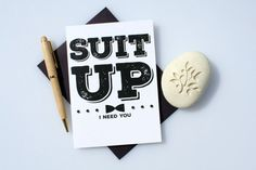 Funny Groomsman Card, Cute Groomsman Card, Groomsman Card, Wedding Card, Will You Be My Groomsman Card, Suit Up