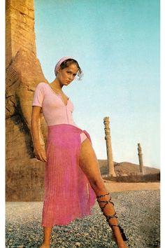 Lauren Hutton by Henry Clarke, 1969.