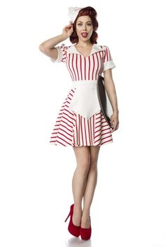 American Diner Girl Waiter Waitress Maid 50s Retro Costume