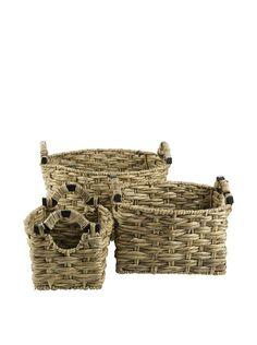 My Spirit Garden Set of 3 Water Hyacinth Giuliana Baskets, Golden Wheat, http://www.myhabit.com/redirect/ref=qd_sw_dp_pi_li?url=http%3A%2F%2Fwww.myhabit.com%2Fdp%2FB00O6360NS