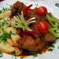 Egy finom Vadnyúl pörkölt ebédre vagy vacsorára? Vadnyúl pörkölt Receptek a Mindmegette.hu Recept gyűjteményében! Pork, Beef, Cook Books, Meals, Dishes, Chicken, Cooking, Ethnic Recipes, Kale Stir Fry