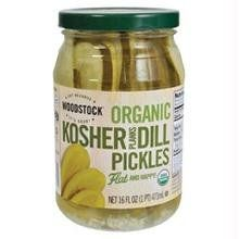 Woodstock Farms Organic Kosher Dill Pickle Planks -- 16 oz - http://goodvibeorganics.com/woodstock-farms-organic-kosher-dill-pickle-planks-16-oz/