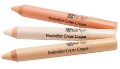 Neutralizing Crayons quickly banish red, blue and dark discolorations, accentuate highlights, or correct facial features. Great for quick touch-ups and effective at covering freckless and age spots on hands for close-ups. For information, contact Denver@norcostco.com  Mention you found us on Pinterest and ask about our Pro Makeup Artist Discount Program which saves you money! #bennye #makeup #stage #theatre #beauty