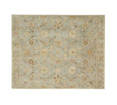 Gabrielle Persian-Style Rug - Blue | Pottery Barn -- possibility for the foyer