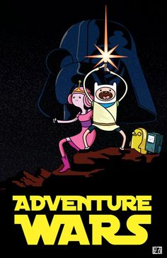 Adventure Time + Star Wars = ? (Not a fan of adventure time, but damn this is HILL. . . Corny.) XD