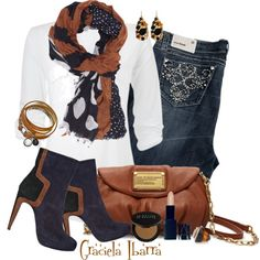 matching scarf, matching boots=perfection