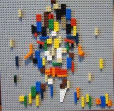 오상훈 Sanghoon Oh, 윙크하는 남자 Man with wink, 38x38cm, Lego, 2016.04.