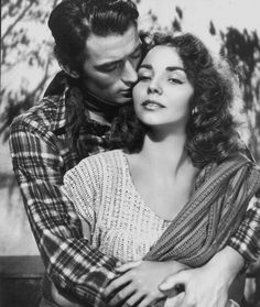 Gregory Peck and Jennifer Jones in Duel in the Sun (1946).