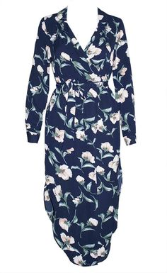 Claudia Navy Floral Dress – Little Party Dress