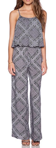 Printed tiered jumpsuit