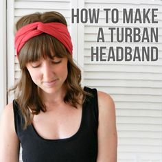 DIY Turban Headband sewing pattern with simple step-by-step instructions with photos - easy!
